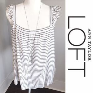 Ann Taylor Loft Flowing Tank w/Ruffle Shoulders